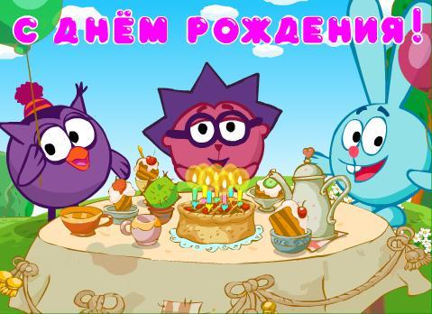 Сценарий детского дня рождения со Смешариками
