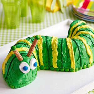 Торт в виде гусеницы