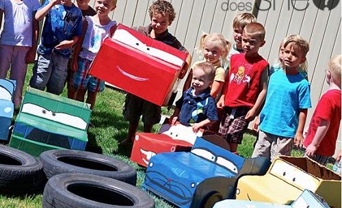 Детский день рождения на автомобильную тему