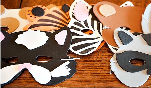 Звериные маски для детей