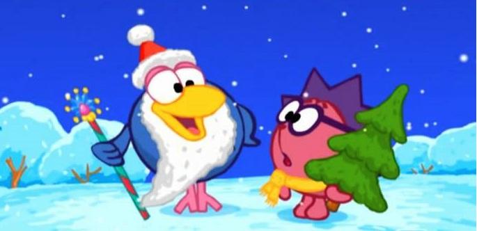 Смешарики на новый год мультфильм