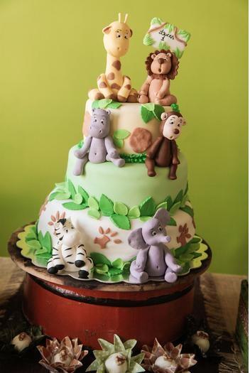 Детский торт из джунглей