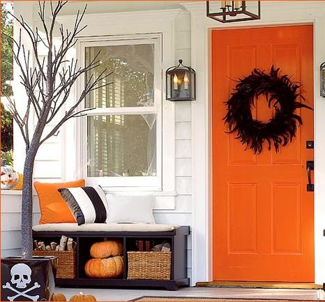 Украшение дома на хеллоуин