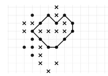 Поле для игры в точки на бумаге