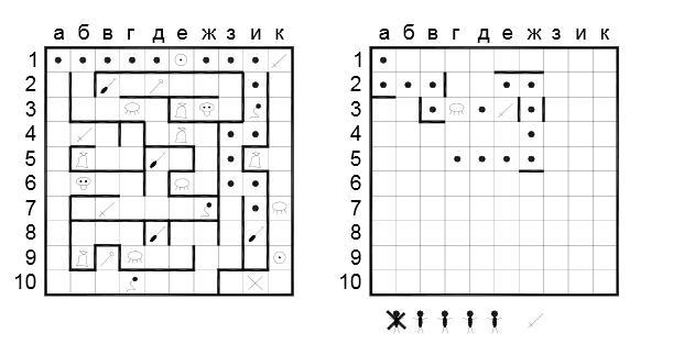 Пример игры в лабиринт
